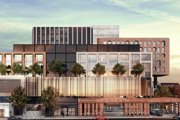 The hotel development proposed for central Launceston designed by Scanlan Architects.