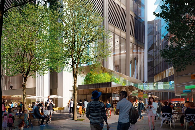 The proposed Circular Quay tower designed by Foster and Partners will have a mixed use podium.