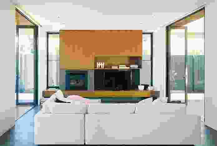 Operable glass doors allow cross-ventilation.