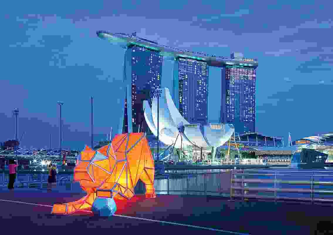 Installation Design – Digital Origami Tigers by LAVA.