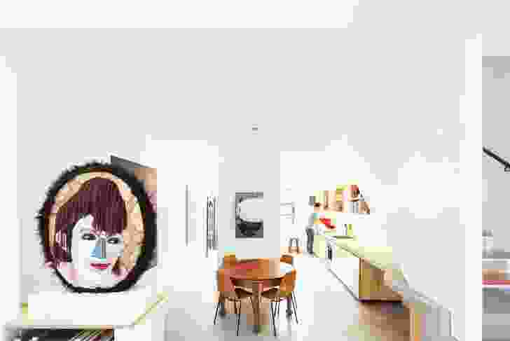House Bruce Alexander (2008): A renovation of an inner-city terrace house demonstrates that high levels of amenity can be achieved within a tight footprint and budget. Artwork: Alan Jones (face).