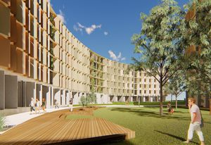 La Trobe University student accomodation by Jackson Clements Burrows Architects.