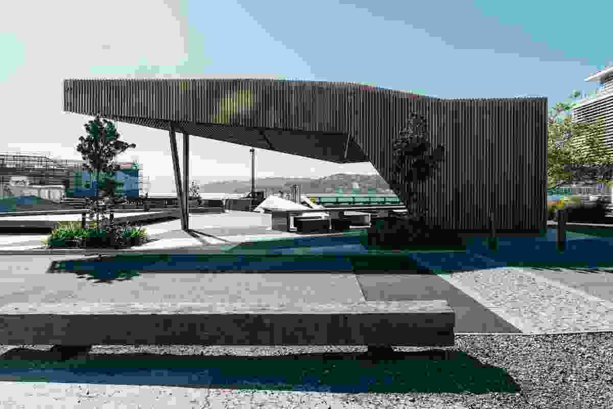 Finalist: Public Architecture – Kumutoto Pavilion by Isthmus Group.