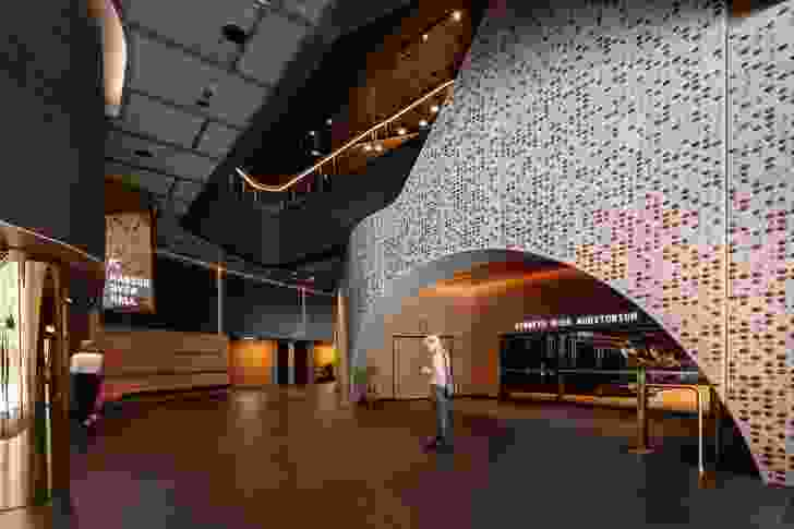 The main foyer of the Ian Potter Southbank Centre by John Wardle Architects.